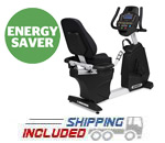 Spirit Fitness CR800 Commercial Recumbent Bike with Walk Through Design