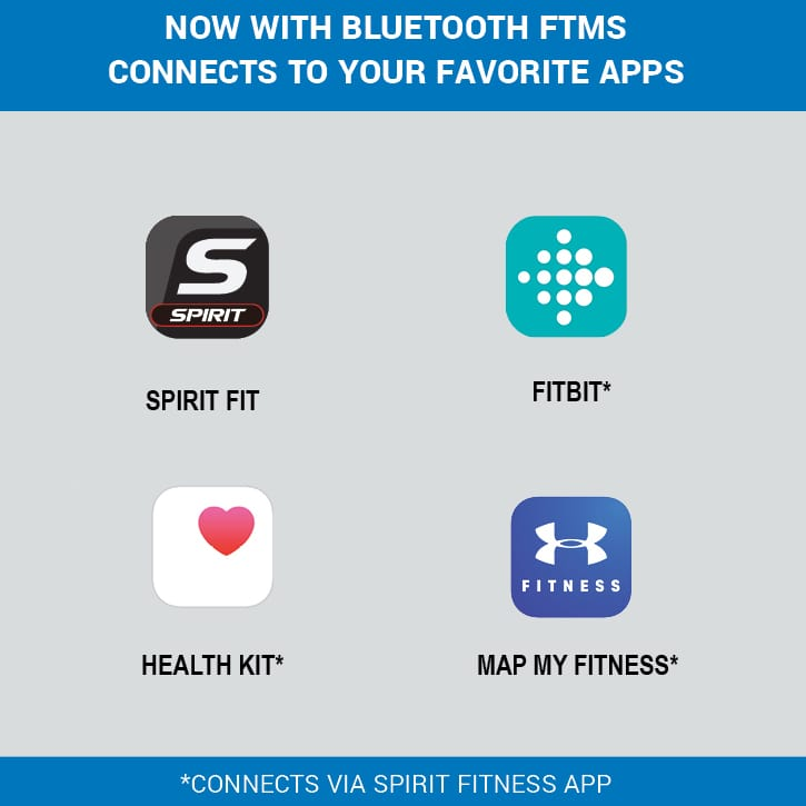 Spirit Fitness Bluetooth App Connectivity