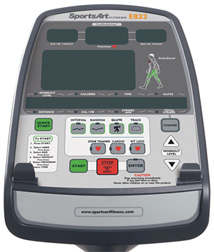 E822 Elliptical Performance Series Console