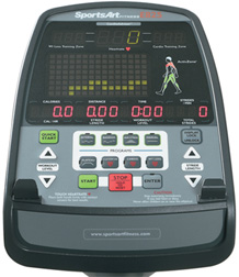 E825 Elliptical Performance Series Console