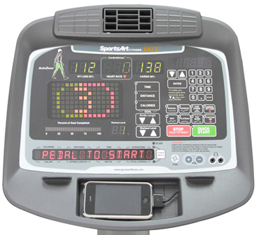 E875 Elliptical Club Series Console
