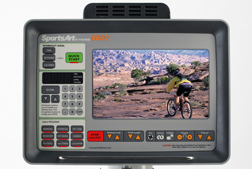 E880 Elliptical Club Series Console