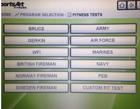 Military and Emergency Services Protocols Fitness Test Programming on GSA Treadmills from SportsArt Fitness