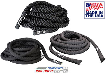 Covered Heavy Rope for All-Weather Training