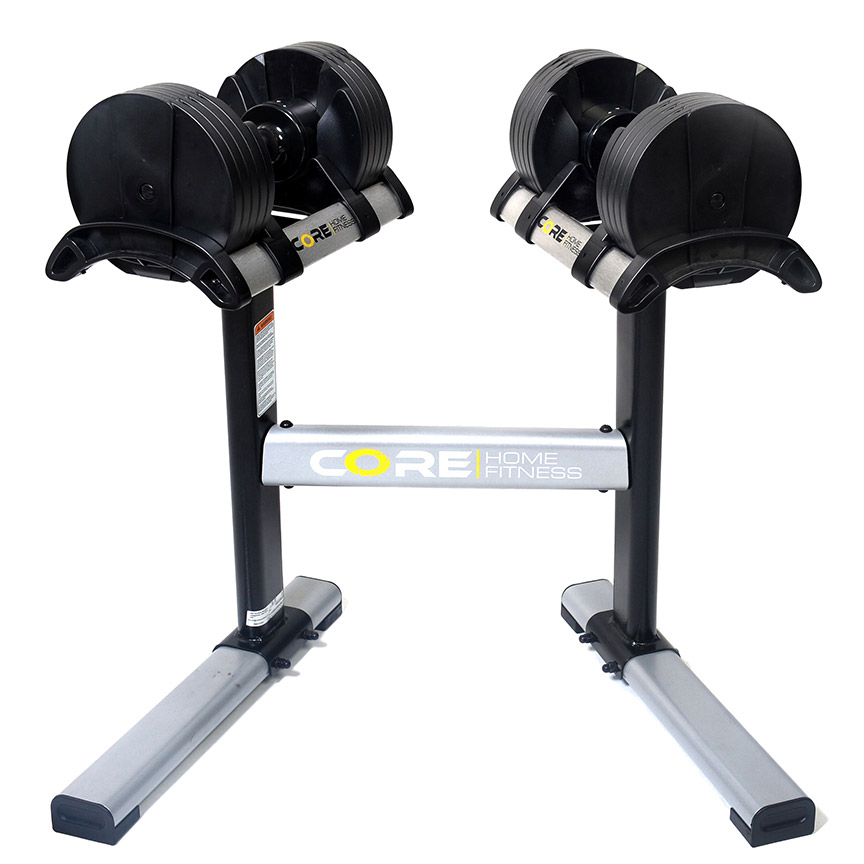 Core Home Fitness TwistLock Adjustable Dumbbells and Dumbbell Stand