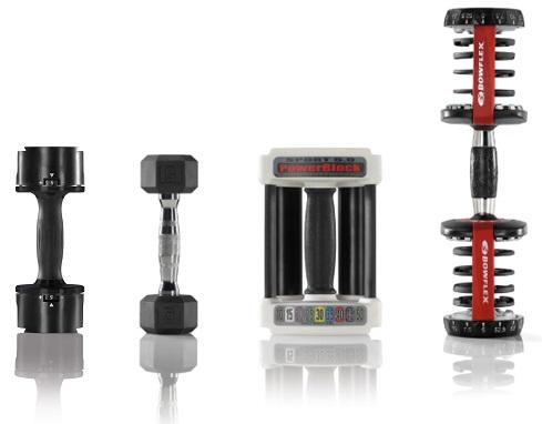 Core Home Fitness TwistLock Adjustable Dumbbell Handle Size Comparison