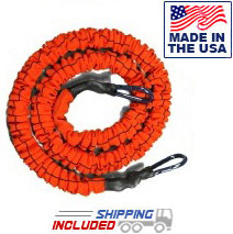 4' Slastix® Bands with Clips - Light Resistance (Orange)