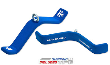 T-Grip Flat Triceps Handle Cable Attachment
