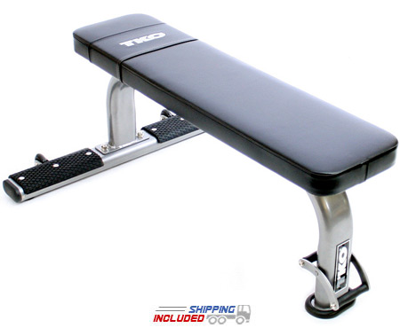 TKO 860FB-B Flat Utility Weight Bench w/ Oval Tubing and Transport System