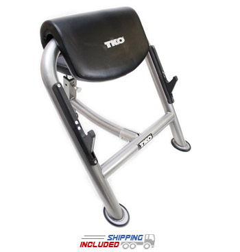 TKO 867PB-B Preacher Curl Bench with Adjustable Seat