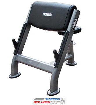 TKO 876HP Preacher Curl Bench with Adjustable Seat
