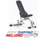 Tuff Stuff CDM-400 Evolution Light Commercial Deluxe Flat Incline Bench