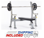Tuff Stuff COB-400 Evolution Light Commercial Olympic Bench w/Safety Stops