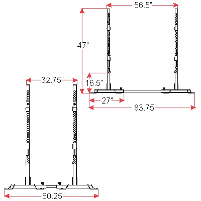 Squat Stands Rack Combo Side Specs