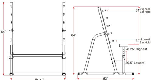 Squat Combo Rack Specs