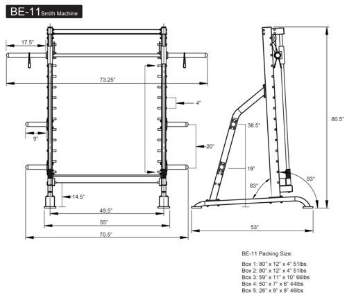 BE-11 smith machine measurements
