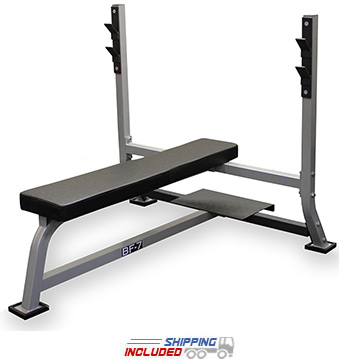 Valor Athletics BF-7 Olympic Flat Bench Press with Spotter Platform