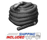 Black Power Conditioning Rope with Sheath