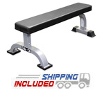 Valor Athletics DA-3 Hard Core Flat Utility Bench for Weight Training