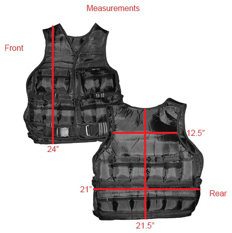 Weighted Vest Measurements