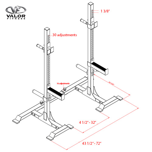 Squat Stands Rack Combo Specs