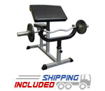 Valor Athletics CB-6 Adjustable Arm Curl Bench for Weightlifting Exercises