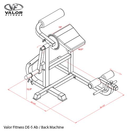 Plate Loaded Ab Back Machine Valor Fitness De 5