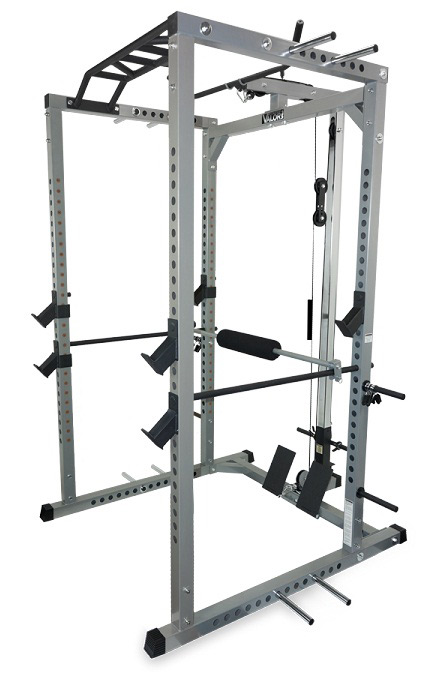 Valor Athletics BD-41 Heavy Duty Power Cage for Garage Gyms with Band Pegs and Optional Lat Pulldown Attachment