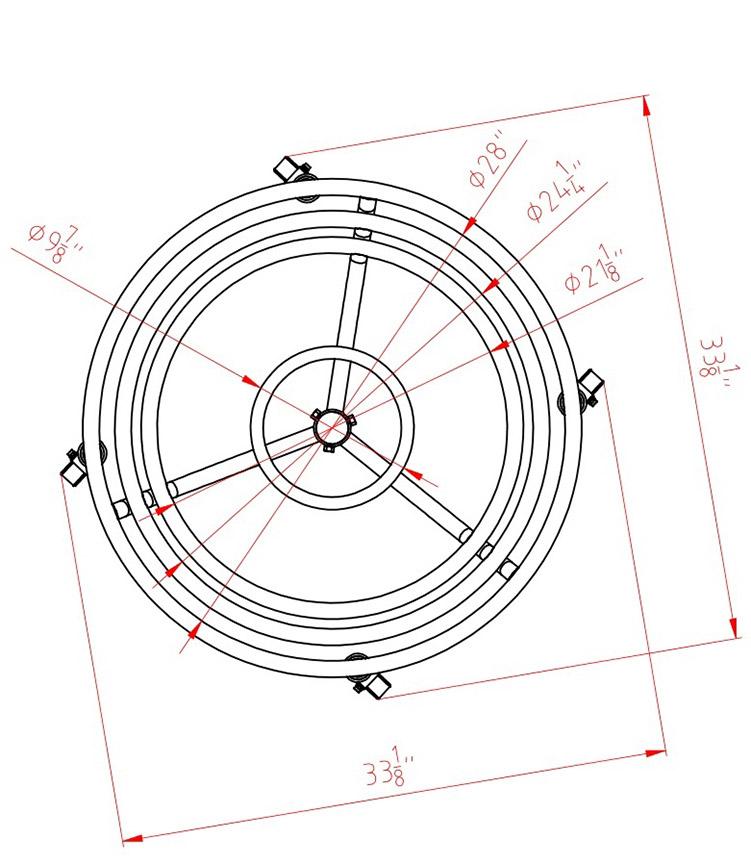 BG-55 top dimensions