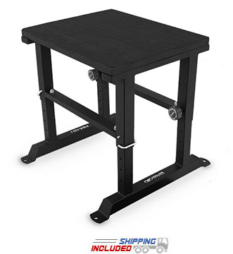 Valor Athletics PBX-ADJ Adjustable Height Plyo Box - Plyometric Jump Box