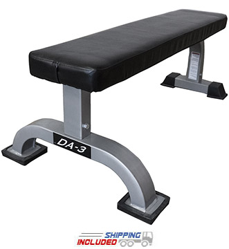 Valor Fitness DA-3 Hard Core Flat Utility Bench for Weight Training