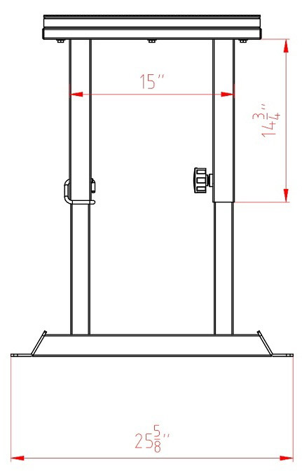PBX-ADJ Pop-Pin adjustable plyo box side dimension and schematics