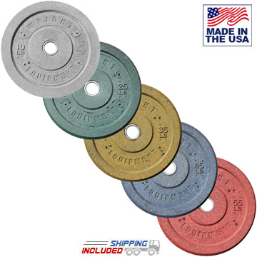 American Made Colored Recycled Crumb Rubber Bumper Plates