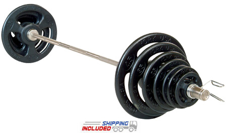 York Barbell ISO Grip Olympic Barbell Set