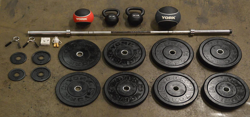 York barbell garage gym starter package