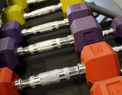 York Color Coded Rubber Hex Dumbbells for Clubs and Fitness Studios